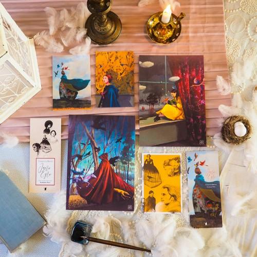 Lot d'illustrations 'Jane Eyre'
