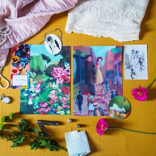 Lot d'illustrations 'Mrs Dalloway'