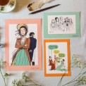 Lot d'illustrations 'Orgueil & Préjugés'