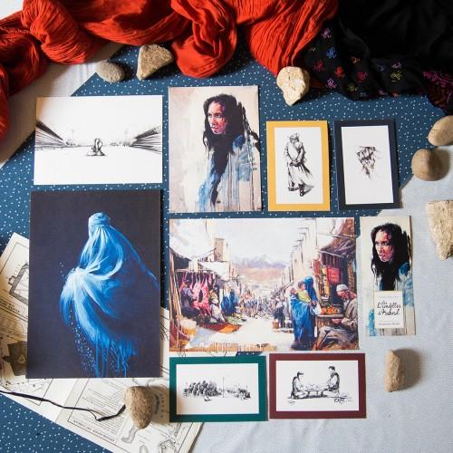 Lot d'illustrations 'Les hirondelles de Kaboul'
