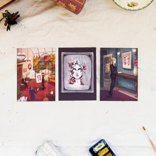 Trio de cartes postales 'Dorian Gray'