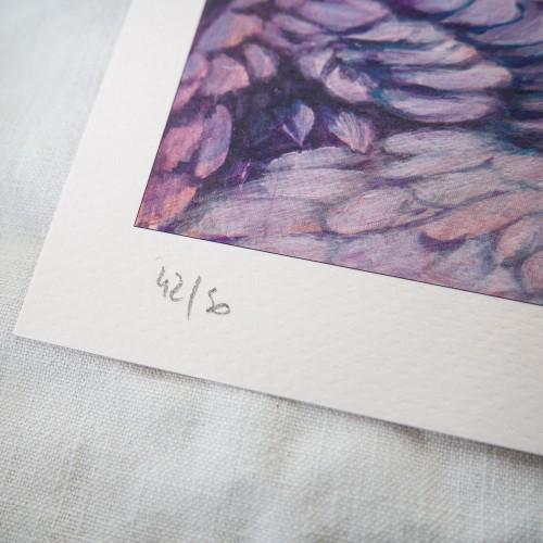 Tirage d'art signé et numéroté 'Cathy repoussée par les anges'
